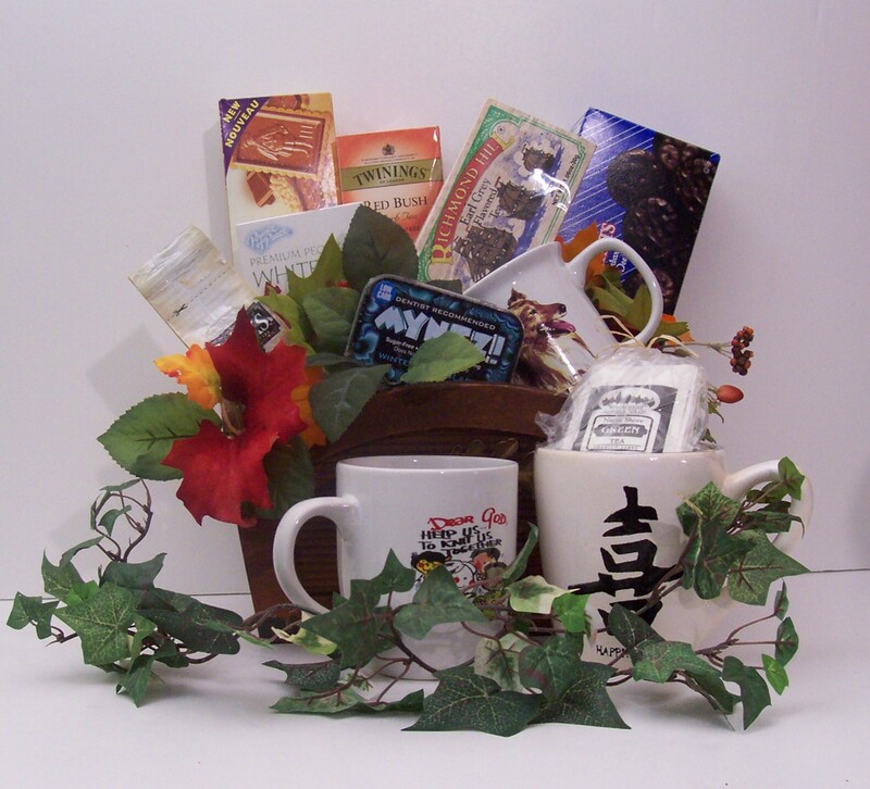 Little Warmth Gift Basket.. Custom basket filled with tea,coffee, coca and mug or mix and match. Great basket for those who like it hot in the morning.