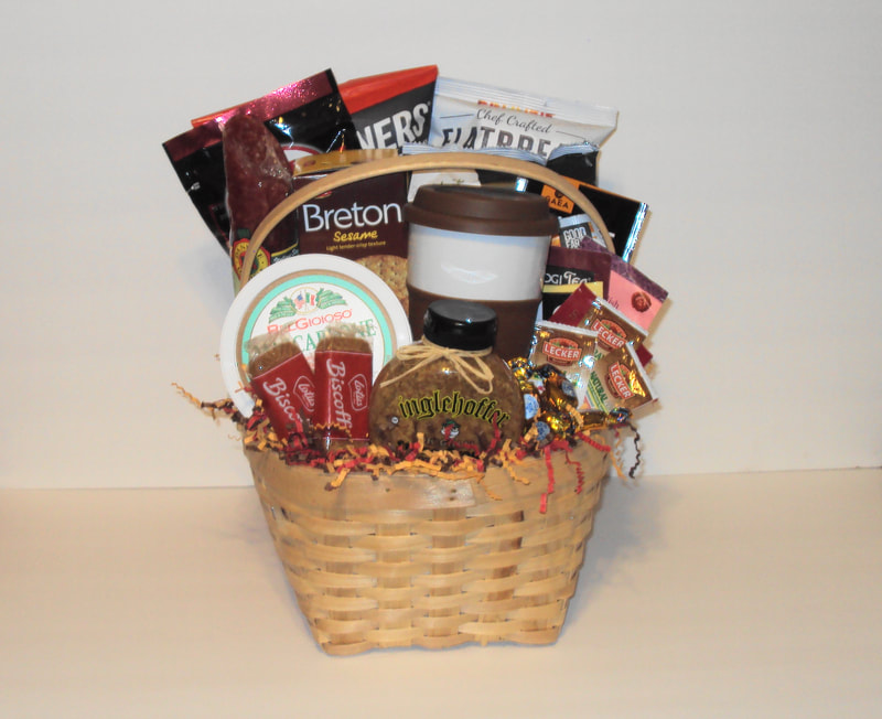 Custom specialty gourmet basket